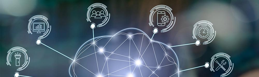 Digitalno umrežavanje poslovnih područja koja simboliziraju trendove u EDI sektoru